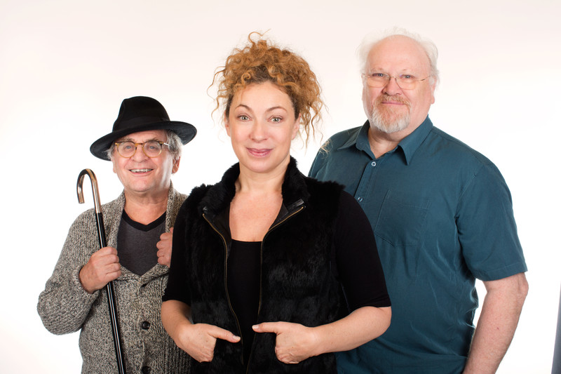 Alex Kingston with Colin Baker and Sylvester McCoy