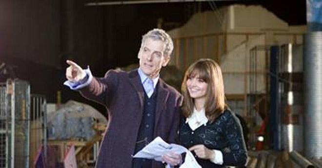 Jenna and Peter Capaldi