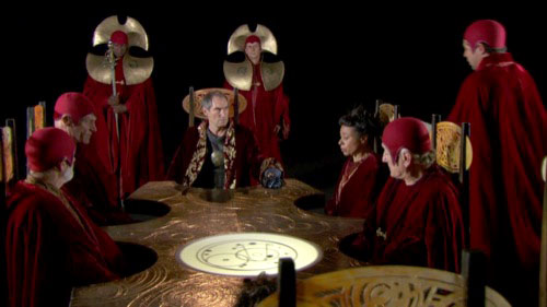 The Timelords and Rassilon as in End of Time