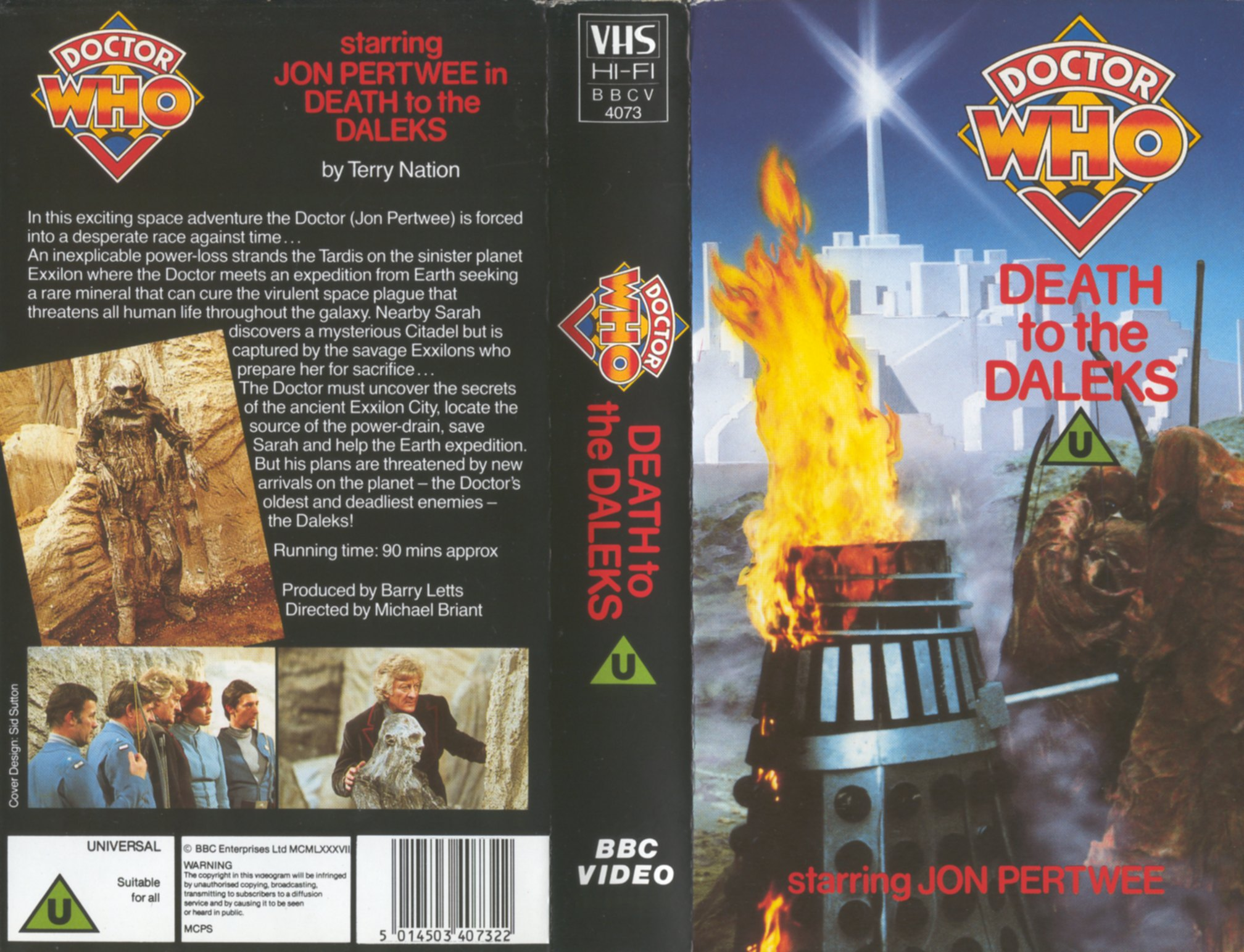 Death To The Daleks VHS