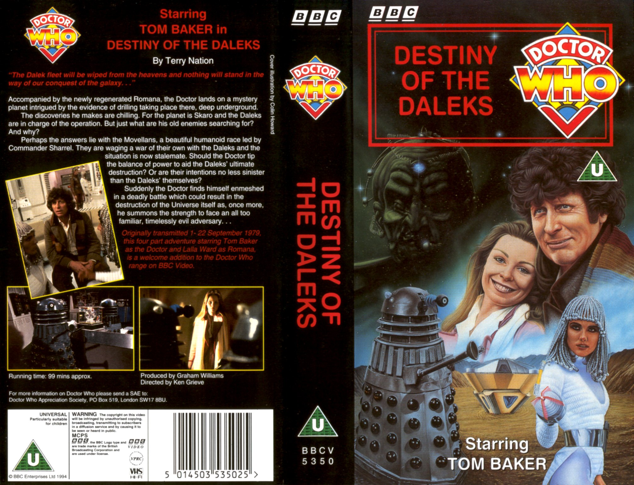 Destiny of the Daleks VHS