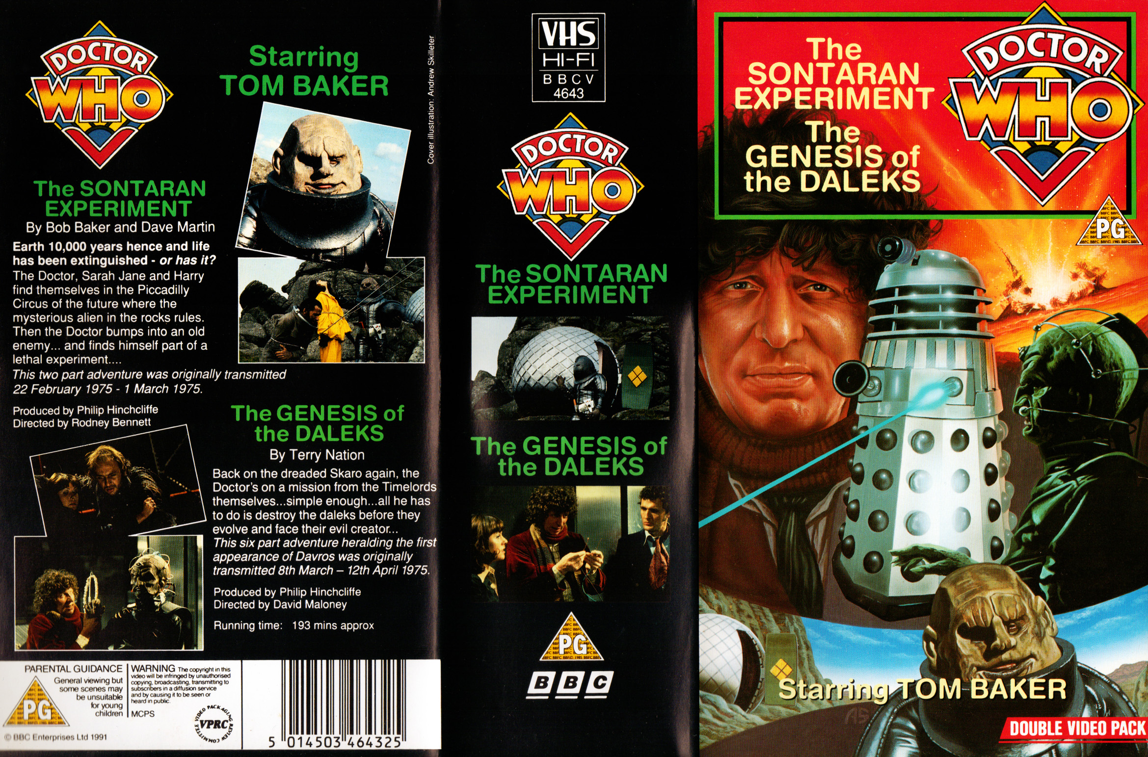 Genesis Of The Daleks & The Sontaran Experiment VHS