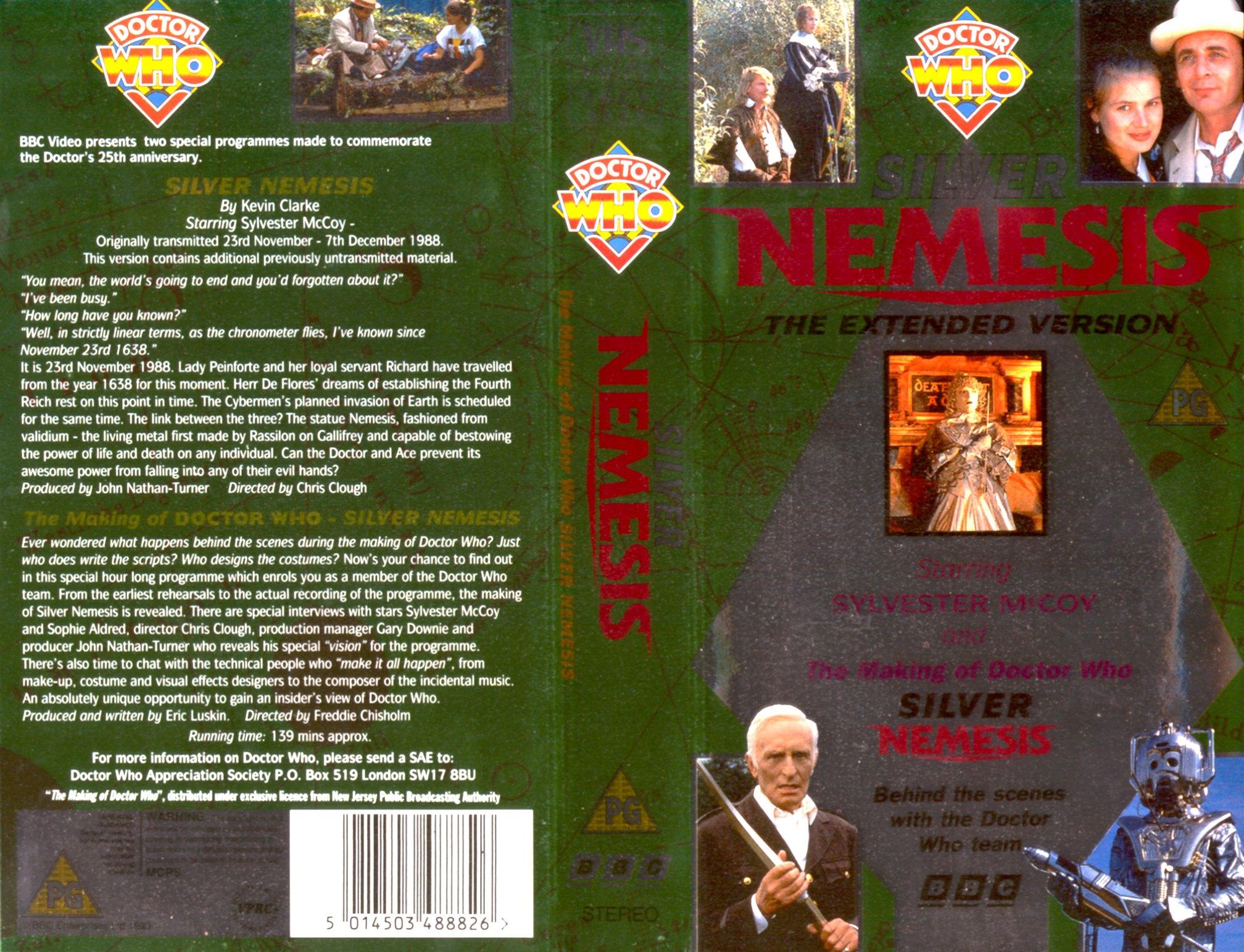 Silver Nemesis VHS
