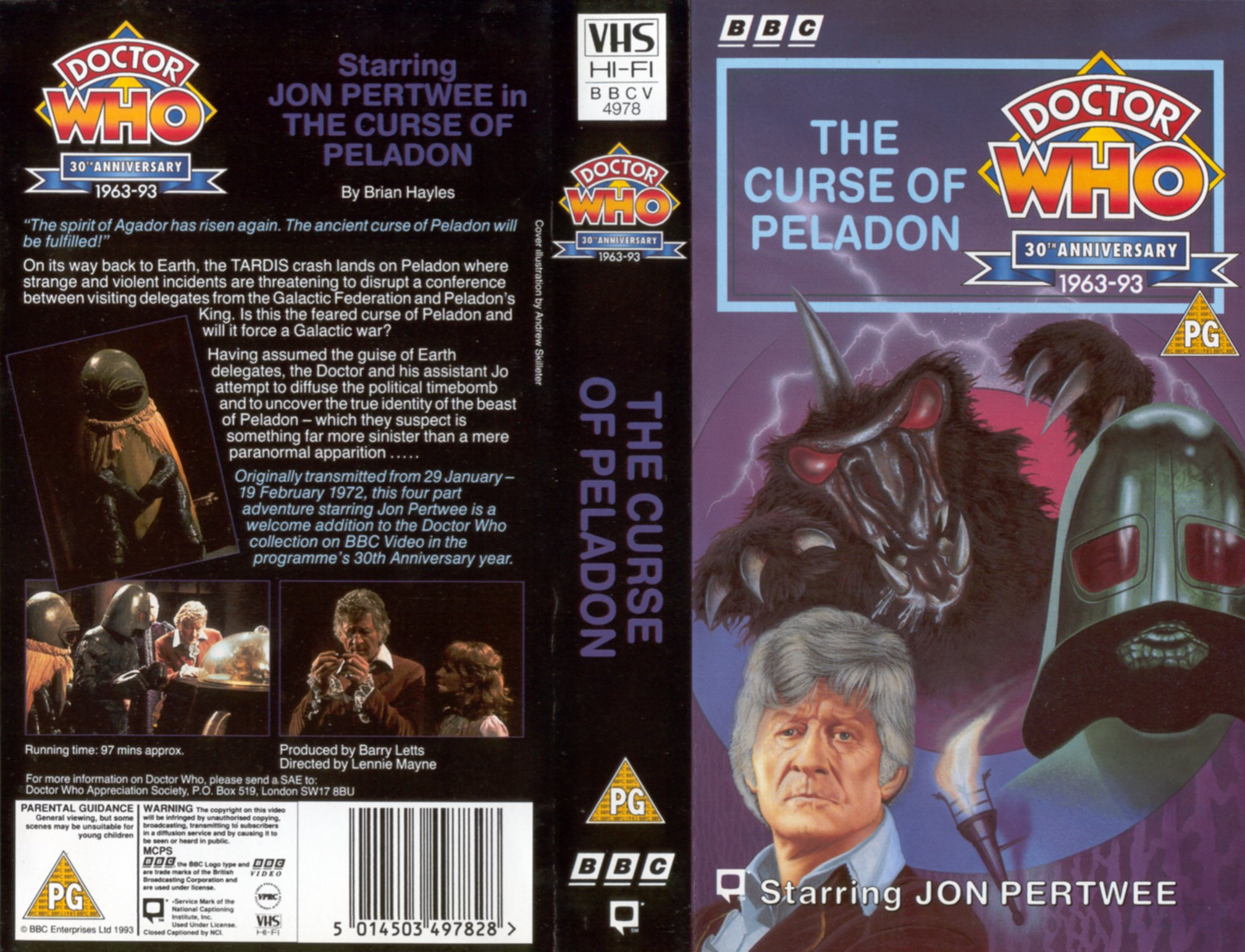 The Curse of Peladon VHS