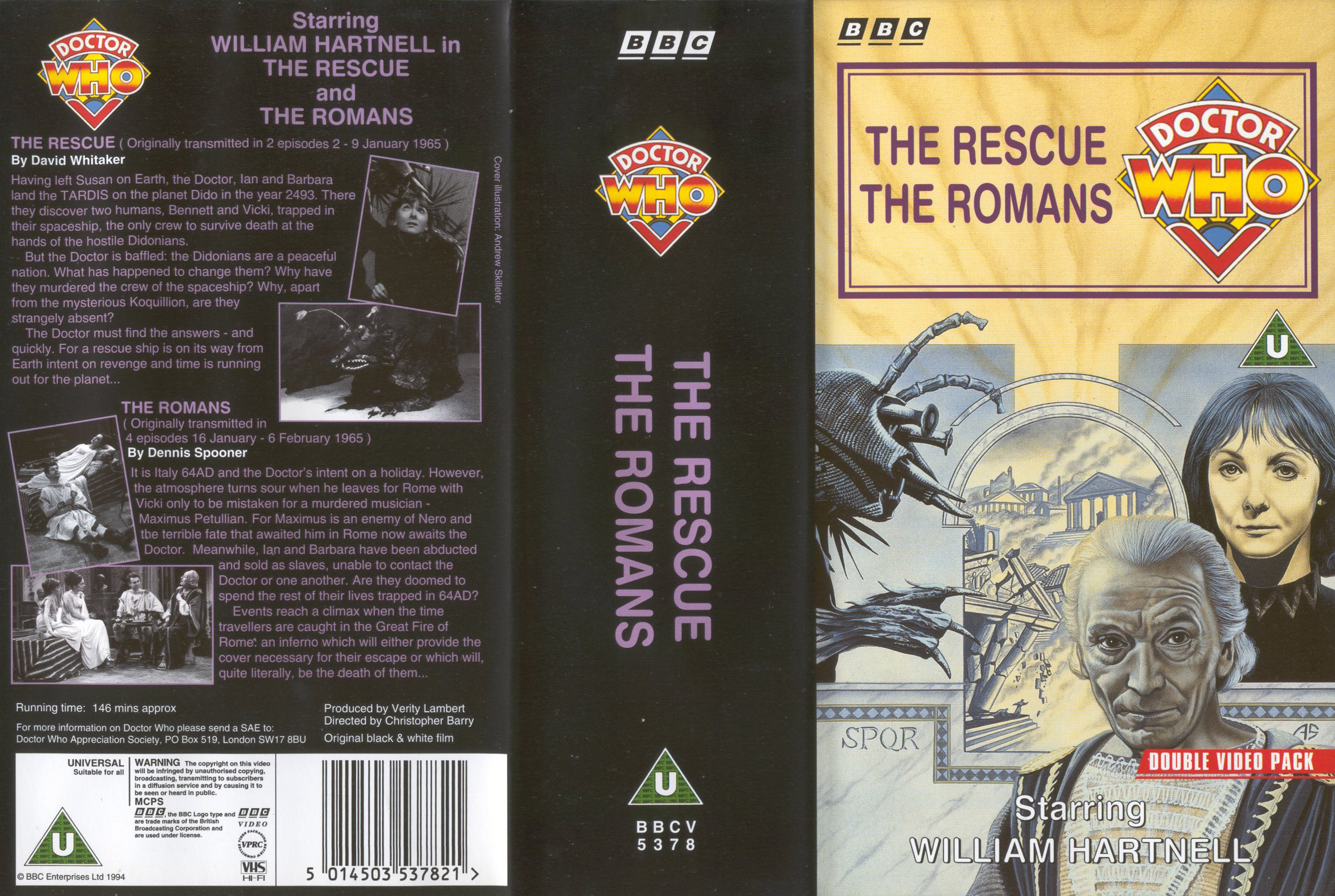 The Rescue and The Romans VHS
