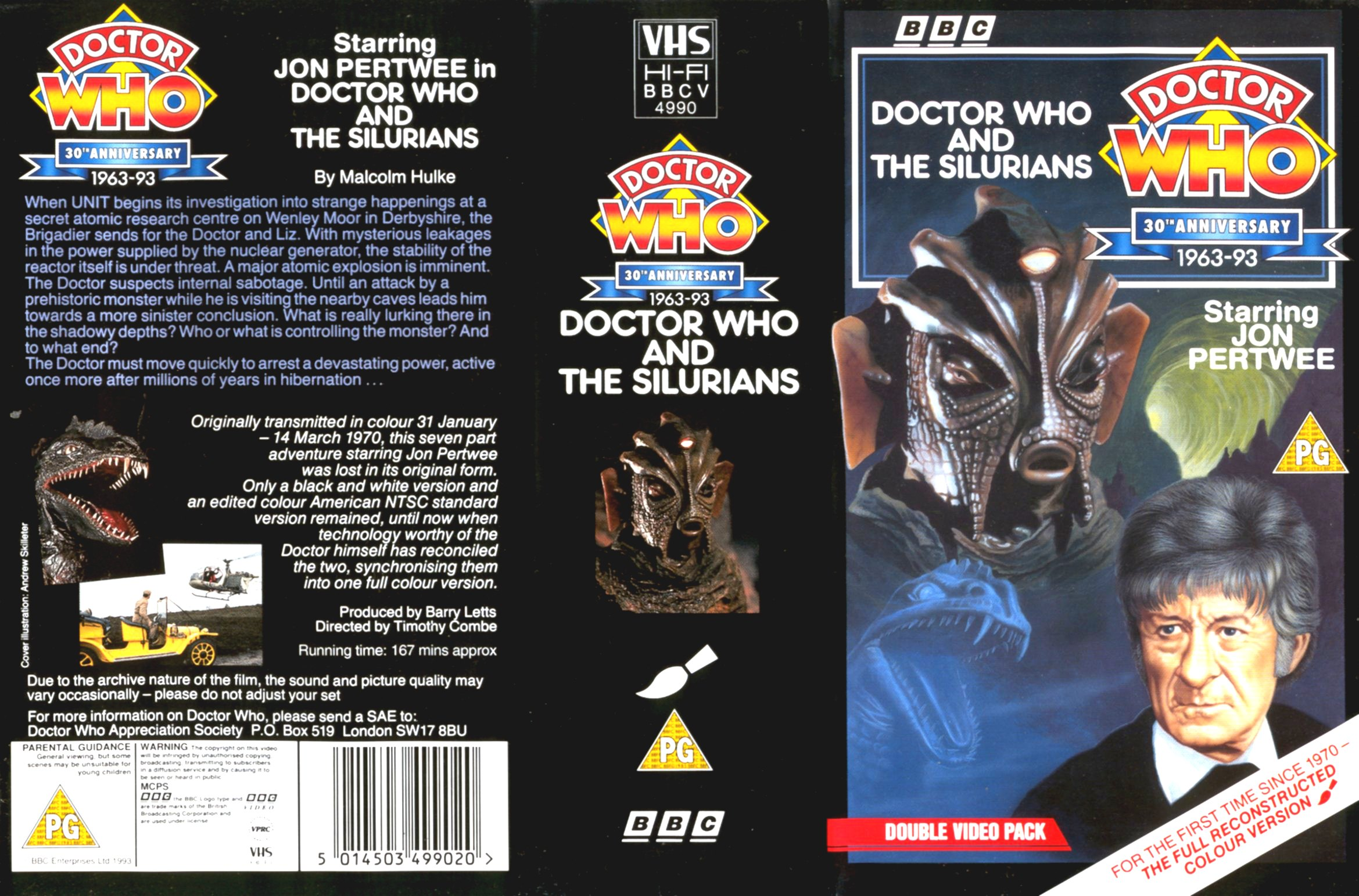 Doctor Who and the Silurians VHS