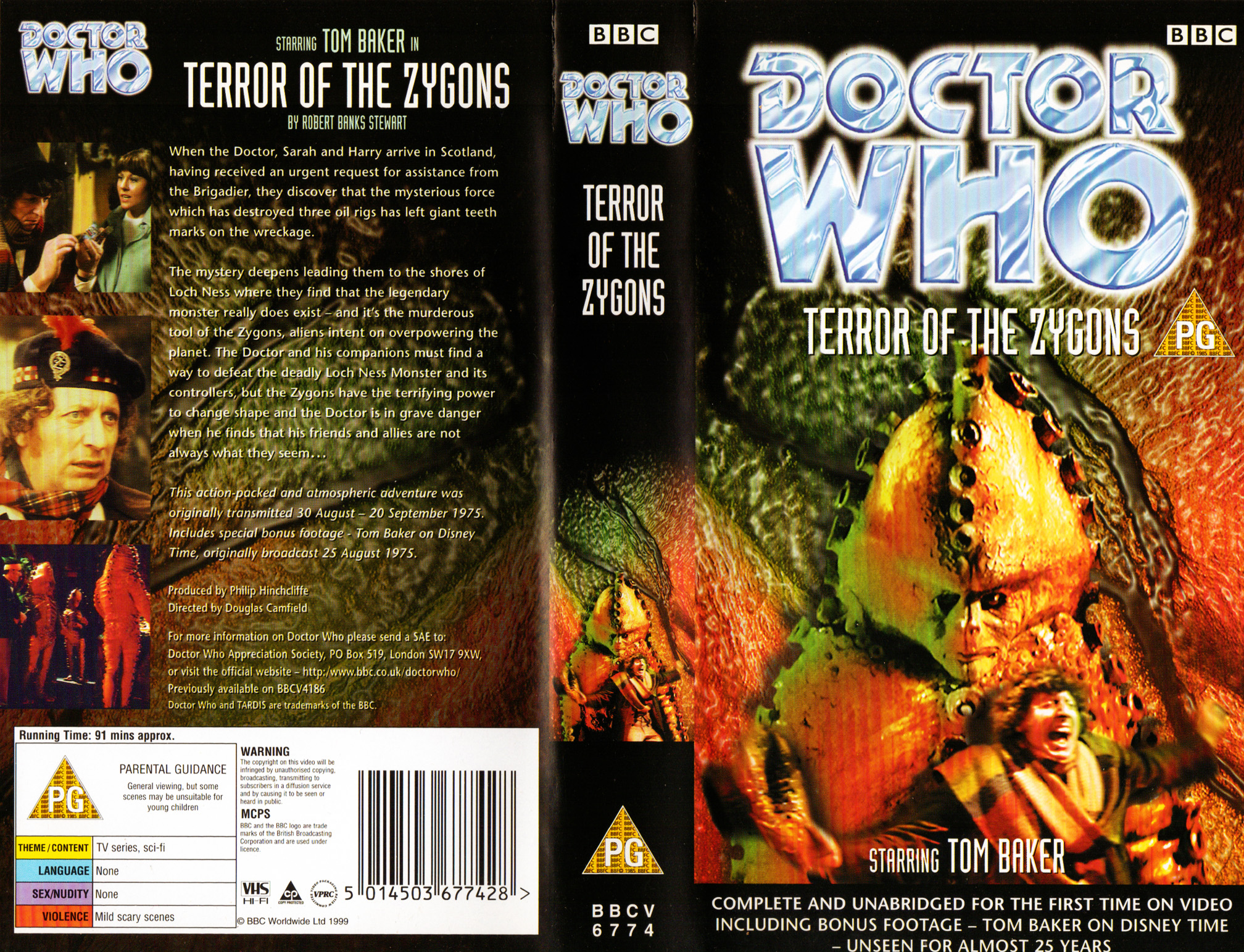 Terror Of The Zygons VHS